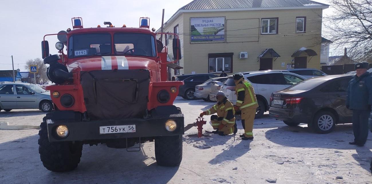 Пожарно-тактическое занятие на здании детского сада «Березка»