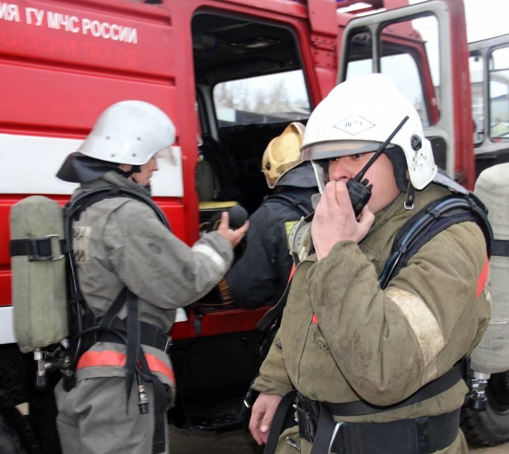 Пожар в Домбаровском районе, поселок Домбаровский