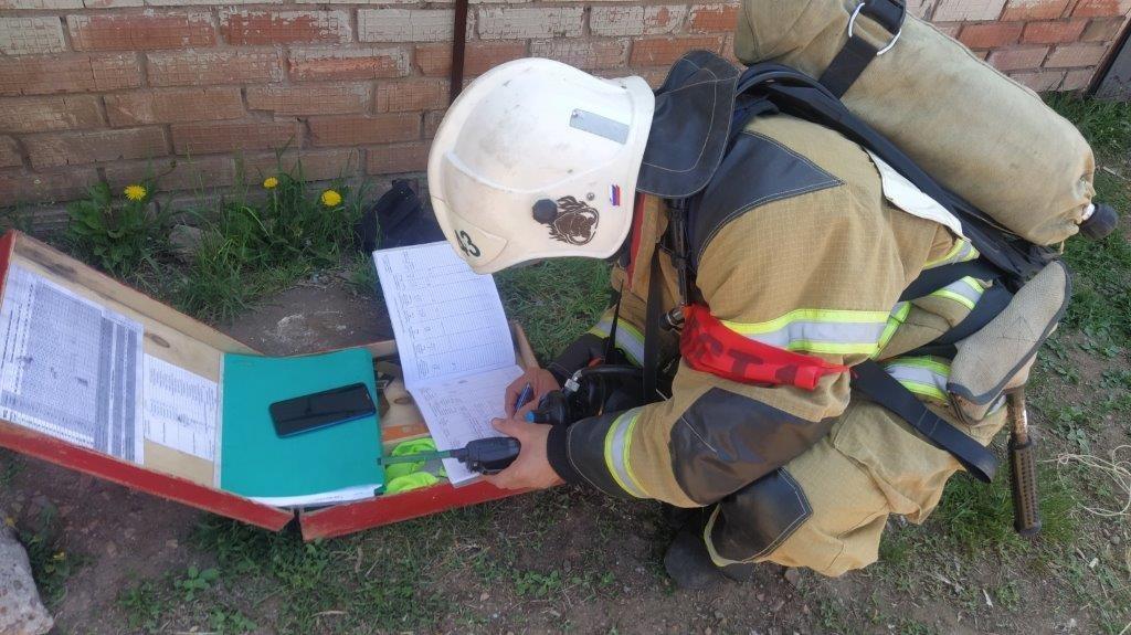 Пожарно-тактические учения с личным составом в селе Плешаново