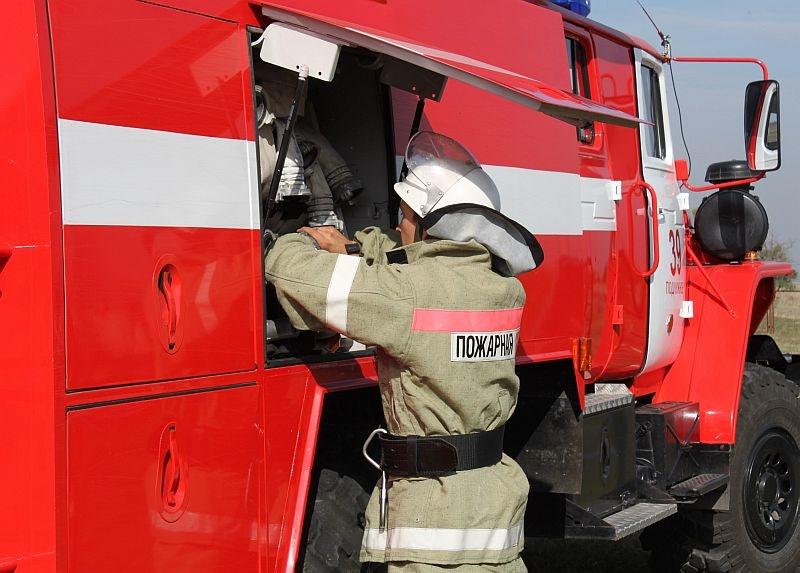 Пожар в Переволоцком районе, село Капитоновка