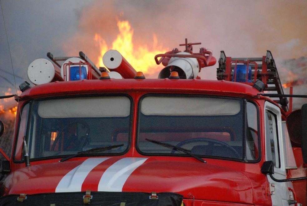 Пожар в Беляевском районе, село Гирьял