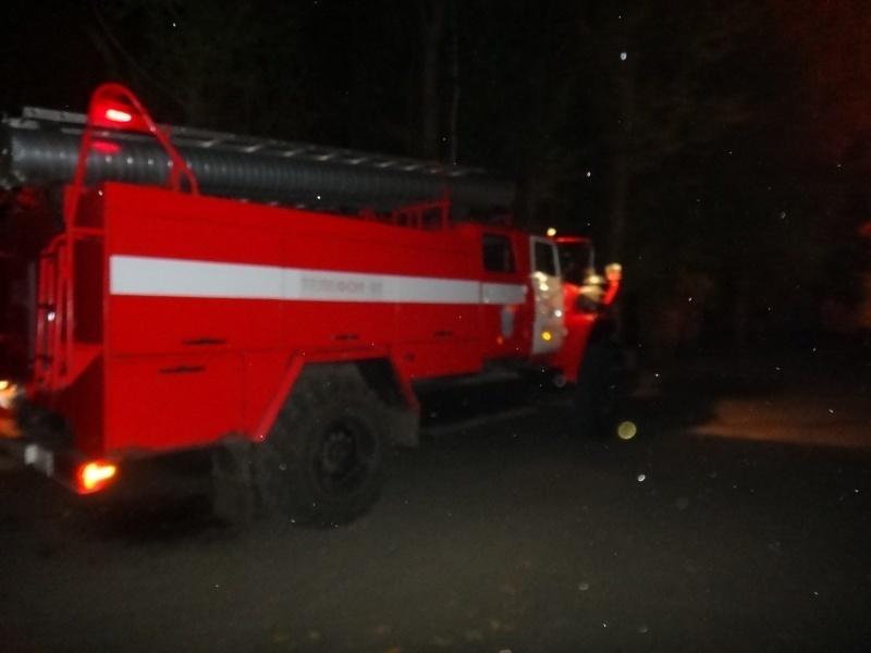 Пожар в Акбулакском районе, поселок Акбулак