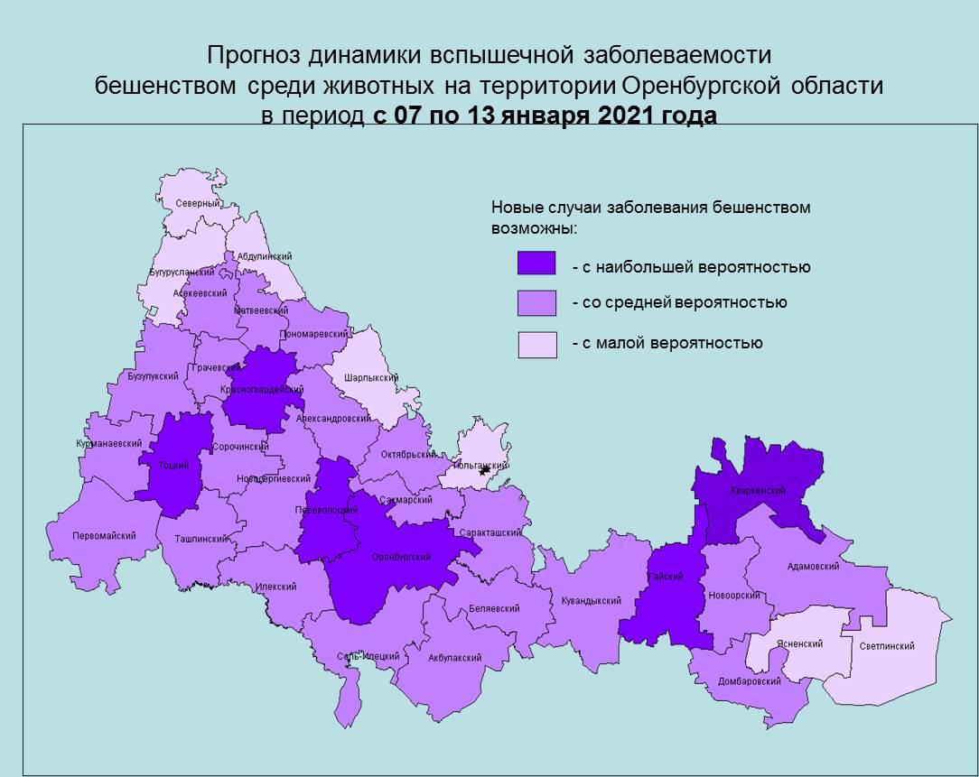 Краткосрочный недельный прогноз возникновения чрезвычайных ситуаций на территории Оренбургской области на период с 07 по 13 января 2021 года - Оперативная информация - Главное управление МЧС России по Оренбургской области